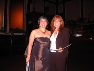 Lynne Midwinter and Pam Warhurst looking posh