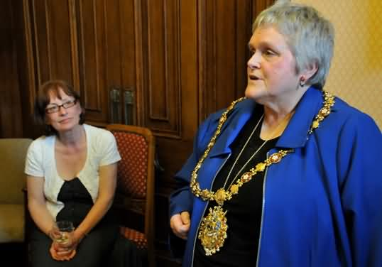 Pam with Mayor, Margareta Holmshtd