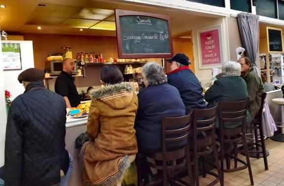 The newest cafe in Todmorden market hall
