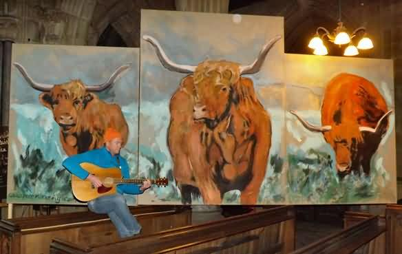 Pete Kilkenny with his cows