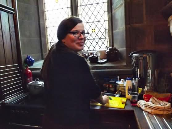 Sofka cooking lunch at the Unitarian
