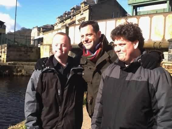 Matt Baker from BBC Countryfile with incredible volunteers Adam and Stephen