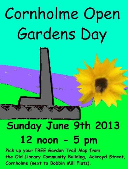 Cornholme open gardens day