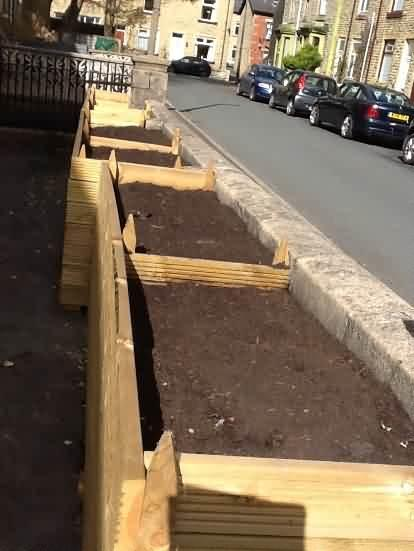 Raised bed at Job centre