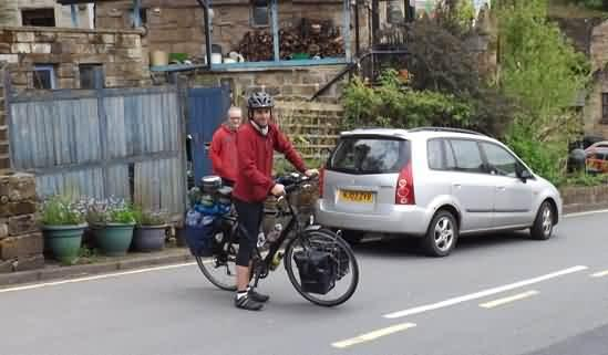 Tom Boyd cycling around the world visit Todmorden
