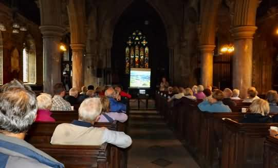 Mary presents to 53 ramblers from Nottingham