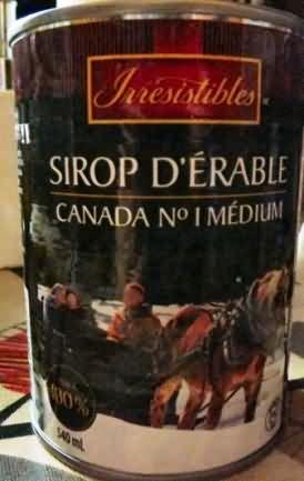 Maple syrup from Canada