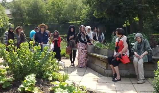 Bradford Youth Development Partnership and three lovely ladies who joined our tour