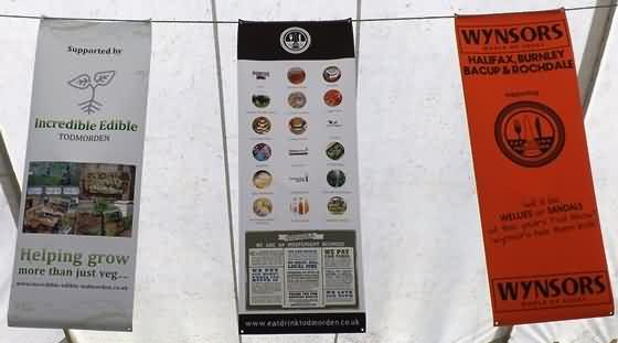 Local food tent banners