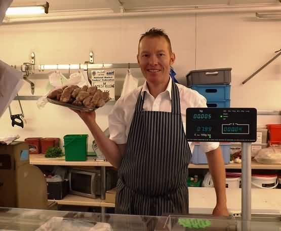 Keith with Mellings world famous sausages