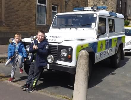 the lads loved the boys toys at the police station