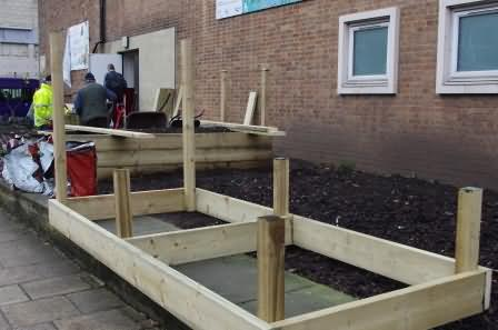 more new beds take shape