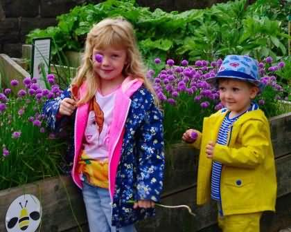 young visitors checking out the station beds