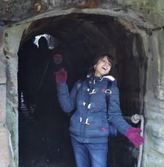 safely through the horse tunnel