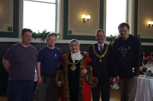 Stephen, Adam and Andrew with the Mayors