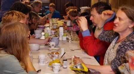 its great to all talk together over shared food